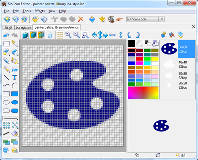 Online Icon Editor full screenshot