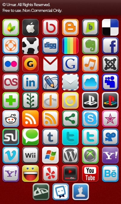 Social and Web Icons