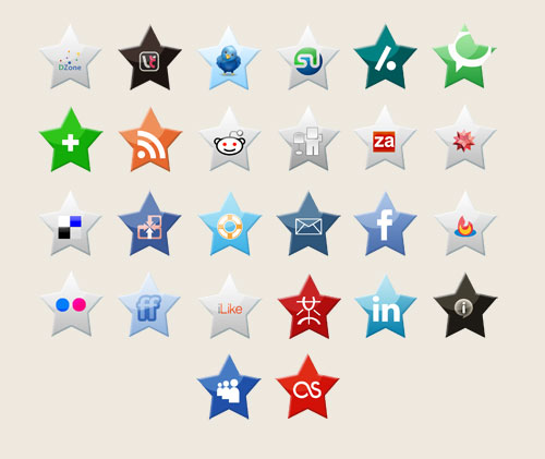 Star-Shaped Social Icons