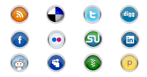 chrome - shiny social icons