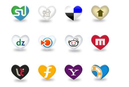 Social Icons - Hearts