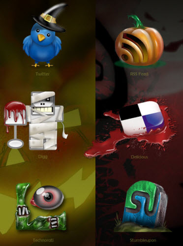 Halloween Social Media Icons from TNerd